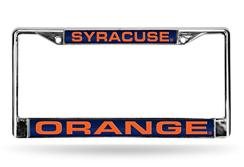 Syracuse Orange Laser Chrome License Plate Frame