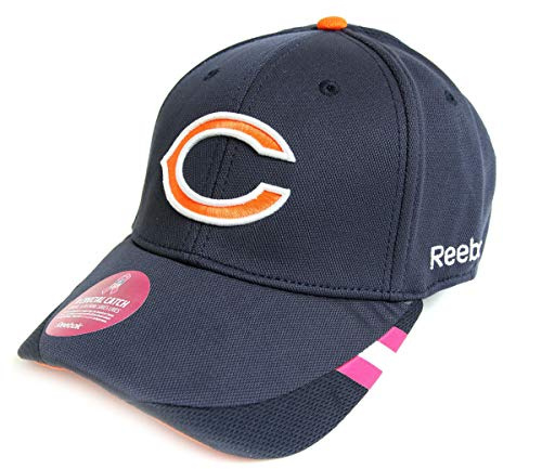 Reebok Embroidered Cap (Chicago Bears Breast Cancer Awareness Coaches Sideline Flex Fit Hat/Cap Large/X-Large)