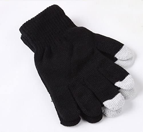 Black Universal Unisex One Size Winter Touchscreen Gloves For Micromax Canvas Tab P702 I-Sonite