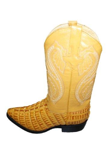 Alligatore Coccodrillo Design In Vera Pelle Uomo Cowboy Artigianali Stivali Western Mango