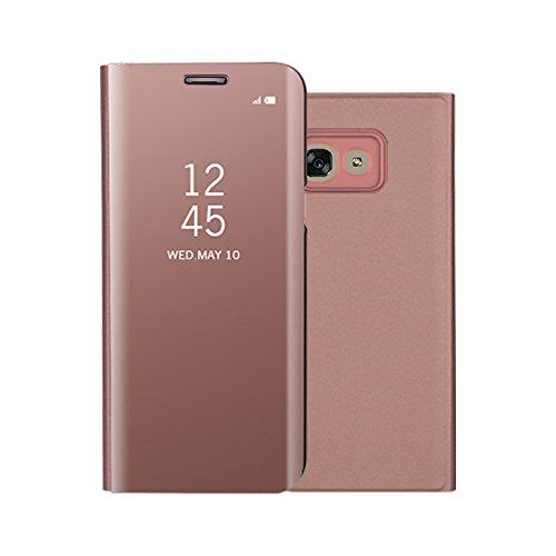 Funda® Mirror Plating Flip Case for Samsung Galaxy A5(2017) (Rose Gold)