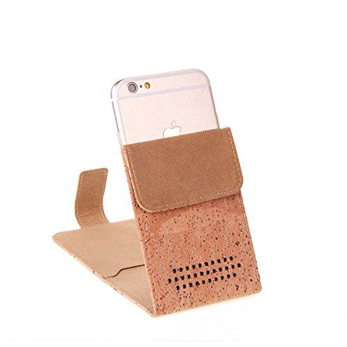 Housse / Coque de Liège pour Apple iPhone 8 Plus Case Cover Flip Style + Écouteurs, protecteur shell Flip Cover - K-S-Trade (TM)