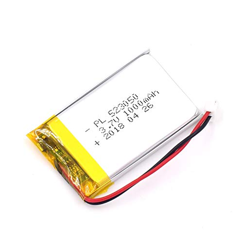 3.7V 1000mAh 523050 Lipo Battery Rechargeable Lithium Polymer ion Battery Pack with JST Connector