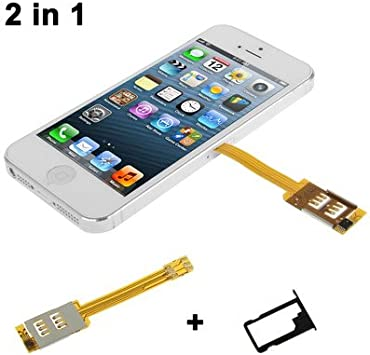 carte sim pour iphone 5c 2 in 1 (Dual SIM Card Multi SIM Card + Tray Holder) for iPhone 5