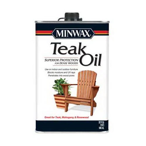 Minwax 671004444 Teak Oil, quart (Varnish Wood Outdoor Furniture)