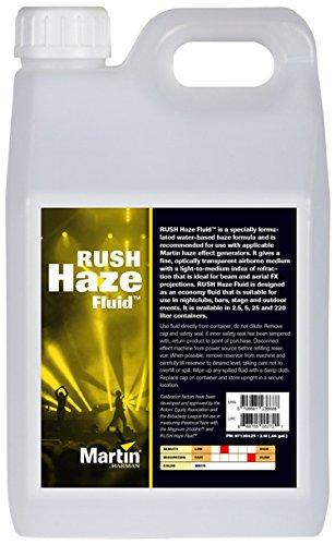 Martin Haze Fluid, 4 x 2.5L RUSH Haze Fluid for Haze Effect Generators, 2.5L (case of (Haze Generator)