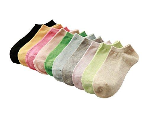 Sokyshop - Soft Cotton Women's Ankle Socks 9 Pairs