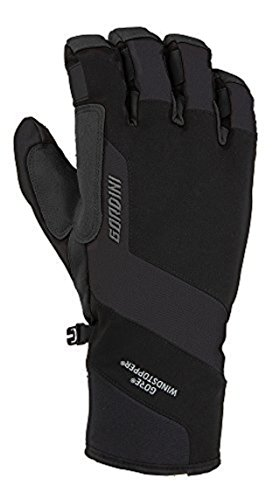 Gordini Men's Swagger II Gloves Black M & Knit Cap Bundle