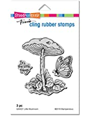 Stampendous QS5021 Cling Stamp-Little Mushroom, Grey