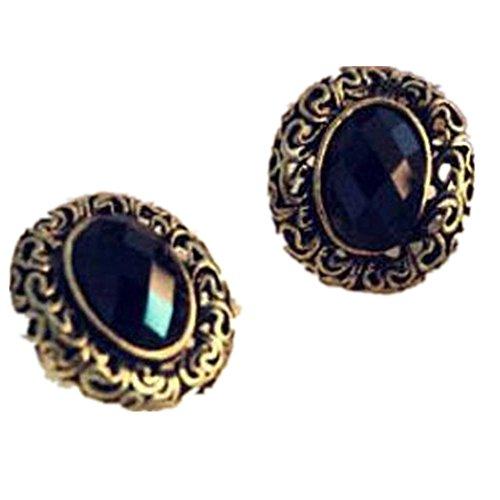 banggood-1-pair-vintage-carved-patterns-hollow-oval-gem-ear-stud-earrings-black