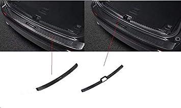 2 protectores de parachoques trasero cromados para XC60 2018-2019, color negro: Amazon.es: Coche y moto