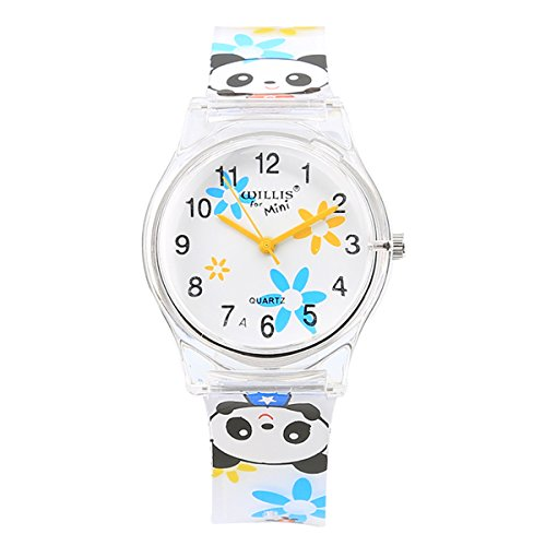 David Fashion Women Ladies Teen Student Girls Print Water Resistant Watch Rubber Band Wedding Party Dress Decor (Panda) (Panda Watch)