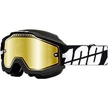 100% unisex-adult Goggle (Black/Mirror Gold,One Size) (ACCURI SNOW ACC SNOW Black/Mirror Lens Gold)
