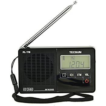 Tecsun PL118 Mini-size Featherlight Digital PLL Synthesized & DSP (Digital Signal Processing) FM Clock Radio with ETM (Easy Tuning Method), Alarm Clock and ...