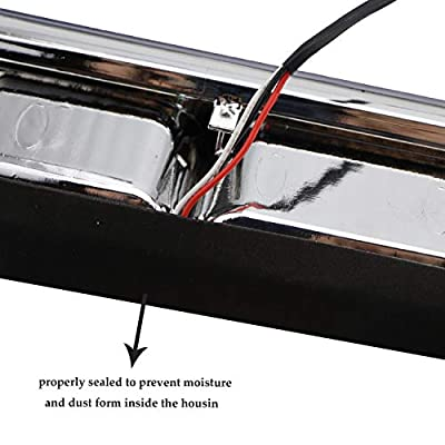 Fit for Ford F-150 2004-2008 Explorer Sport Trac 2007-2010 Lincoln Mark LT 2006-2008 Rear Roof Center LED Third 3rd Brake Cargo Light Assembly High Mount Brake Tail Light (Chrome+Clear): Automotive