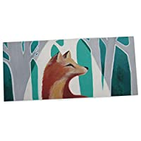 "KESS InHouse Lydia Martin ""Fox Forest"" Office Desk Mat, Blotter, Pad, Mousepad, 13 x 26-Inches"