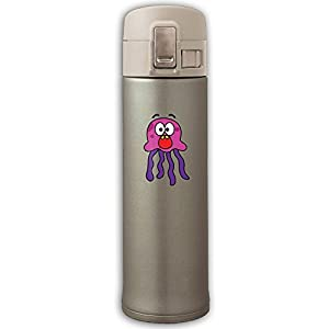 Octopus Fun Man Carried Stainless Bounce Cover Vacuum Cup,Heat Resistance Space Cup