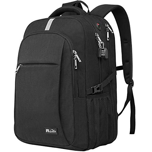 Laptop Backpack with USB Charging Port, Raydem 17.3Inch Travel School Backpack