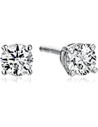 IGI-Certified 18k Gold Round Cut Diamond Stud Earrings (1/4 - 4 cttw, H-I Color, SI1-SI2 Clarity)