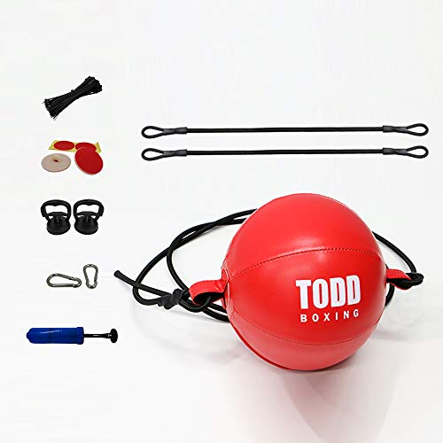 GOFORIT Durable Double End Bag - Train Strike & Reflex & Cardio Beginner Boxing MMA Speed Ball - Easy to Set up and Train Immediately Punching Bag