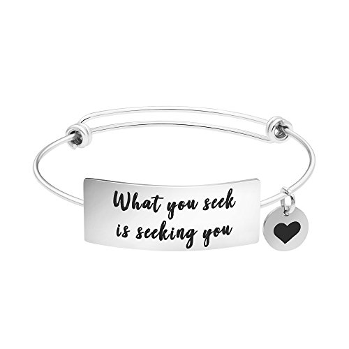 Yiyang Personalized Gift Yoga Jewelry Expandable Bracelet for Her Printable -