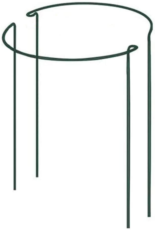 DoubleWood 2 Pack Plant Stake Support Green Half Round Plant Support Ring Metal Garden Plant Stake, Plant Support for Tomato, Hydrangea, Rose, Vine (2 Packs- 9.8