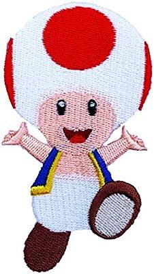 Disfraz de Toad parche hierro bordado/coser en insignia de Super ...