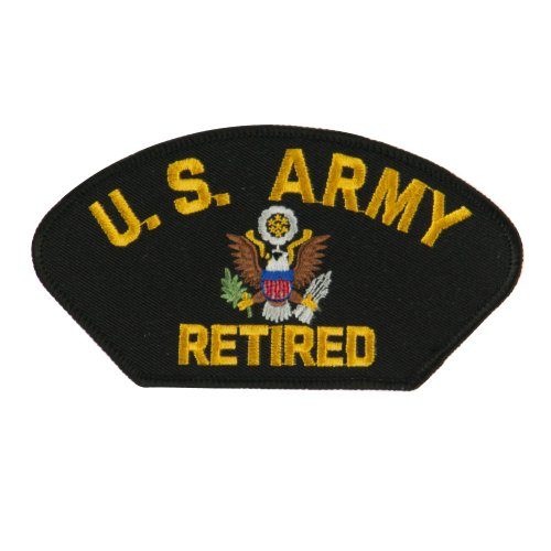 Big Size Retired Military Large Patch - Black Army OSFM