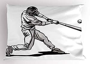 Amazon.com: Lunarable - Cojín de béisbol para habitación ...