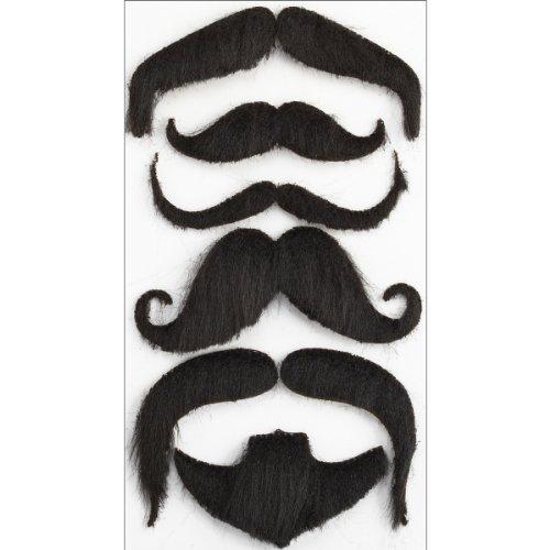 [Jolee's Boutique Parcel Dimensional Stickers, Moustaches] (Moustache Halloween)