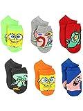 Spongebob Squarepants Boys Girls Toddler 6 pack Socks (4-6 Toddler/Shoe: 7-10, Multi)