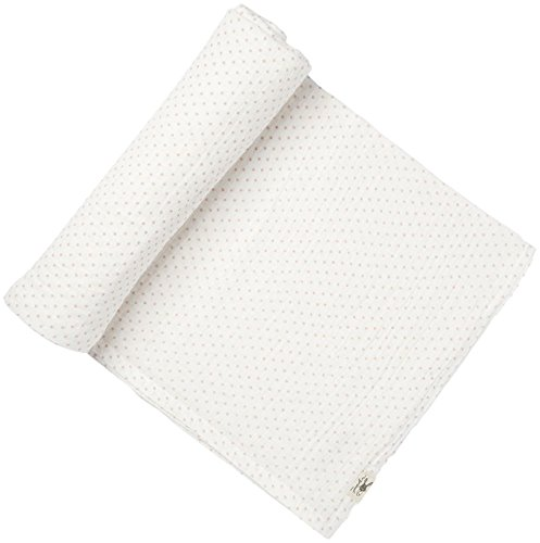 "Pehr Pin Dot Swaddle,100% Cotton,47""x47"" Light Pink"