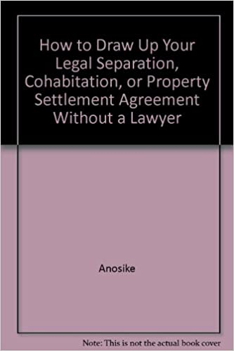 Amazon How To Draw Up Your Legal Separation Cohabitation Or