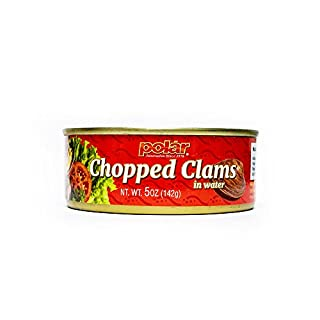 MW Polar Polar Boiled baby clam in Water, 5 Ounce (Pack of 24)