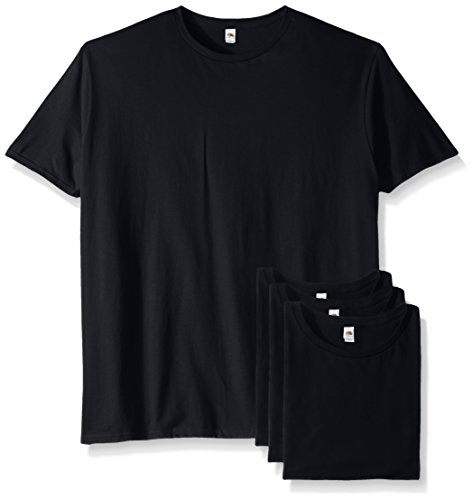 Fruit of the Loom Men's Crew T-Shirt (4 Pack), Black, XXX-Large ()