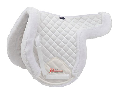 Show Pad - Shires Supafleece Rimmed Shaped Pad White 18