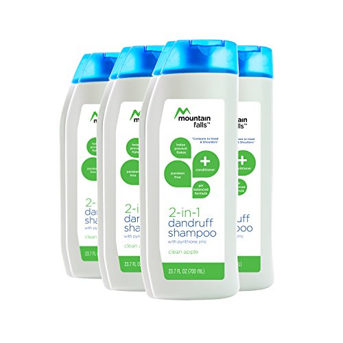 Mountain Falls 2-in-1 Dandruff Shampoo and Conditioner, Clean Apple, 23.7 Fluid Ounce (Pack of 4)