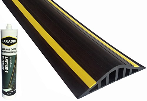 Garage Door Flood Barrier Seal 15in High 8ft 2in