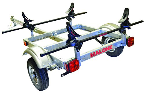 MALONE XTRALIGHT TRAILER PACKAGE w/ 1 SADDLE UP KAYAK RACK by Malone