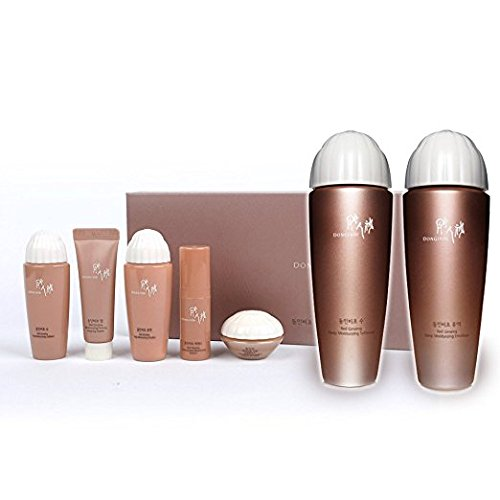[Basic Set] DONGINBI Korea Cosmetic Red Ginseng Moisturizing Softener Emulsion Special Gift 2 Piece Set + Trial Kit (Travel Size 1 Box in 5 items)