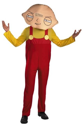 Disguise Men's Family Guy Stewie Costume, Yellow/Red, (Halloween Stewie)
