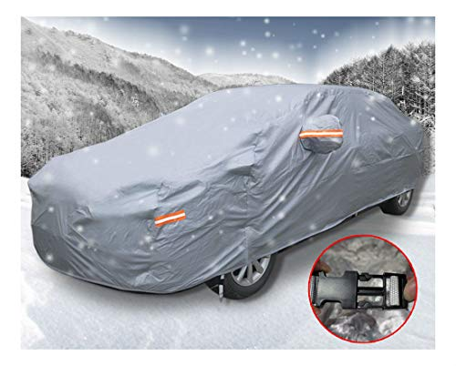 16ft Car Cover Multi Color Waterproof Rain Snow Wind Ice Resistant Protection- Grey