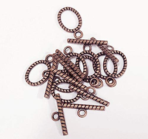 - Bulk 100 Seats of Antique Copper Twisted Toggle Clasps 21x13mm, Antique Copper Toggle Clasps