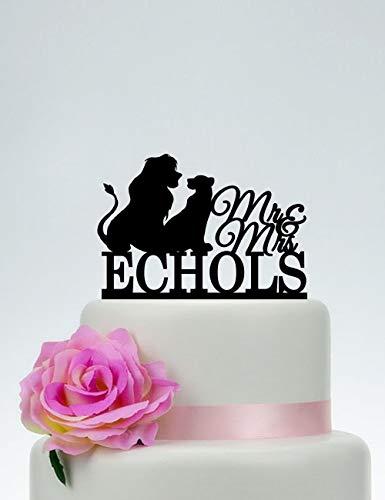 KISKISTONITE Cake Decorating Supplies, The Lion King Wedding cake topper,Disney Inspired Wedding,Mr and Mrs Cake Topper,Simba and Nala,Party Favors