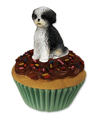 Trinket-Keepsake Box Black & White Sportcut Shih Tzu Dog ~Cupcake