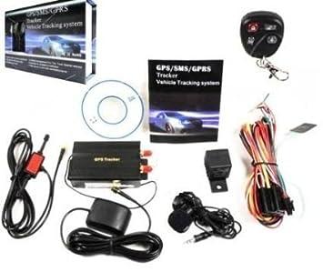 tk103-b Tracker GPS/GSM/GPRS Localizador satélite Antirrobo Coche Moto: Amazon.es: Electrónica