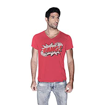 Creo Bang Retro T-Shirt For Men - L, Pink