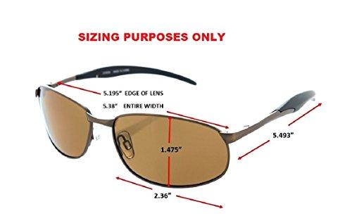 Fiore® Fisherman Metal Frame Polarized Fishing Sunglasses (Gunmetal/Green)