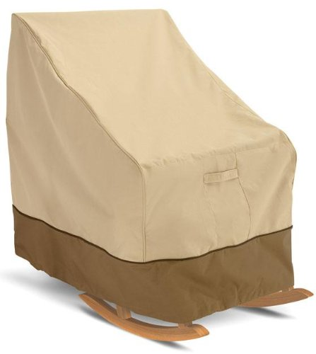 Classic Accessories Veranda Patio Rocking Chair Cover - Durable and Water Resistant Outdoor Furniture Cover, Medium (70952) (Patio Most Furniture Durable)