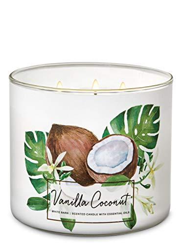 (White Barn Bath & Body Works 3 Wick Candle Vanilla Coconut)